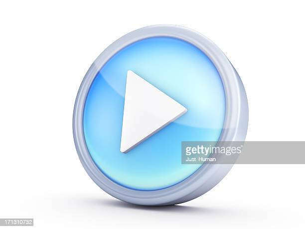 symbol icon - play button stock photos and pictures