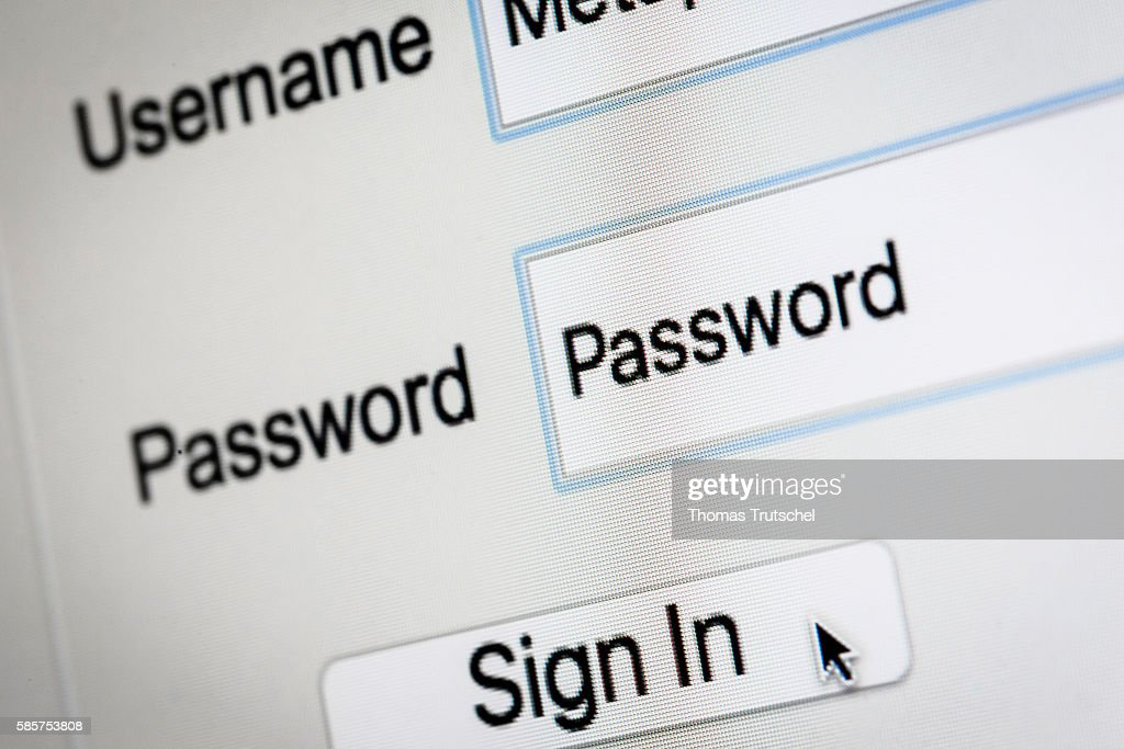 Log In On A Secure Website : News Photo