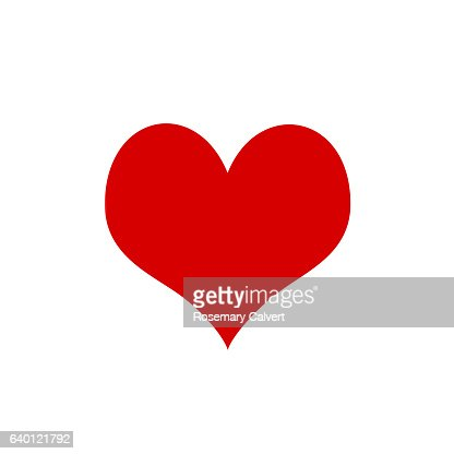 Symbol Of Love In Form Of Red Heart On White Background Stock Photo