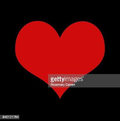 Symbol Of Love Red Heart On Black Background Stock Photo Getty Images