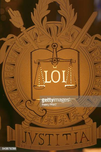 A symbol of the balance representing the law at the Palais de Justice in Paris