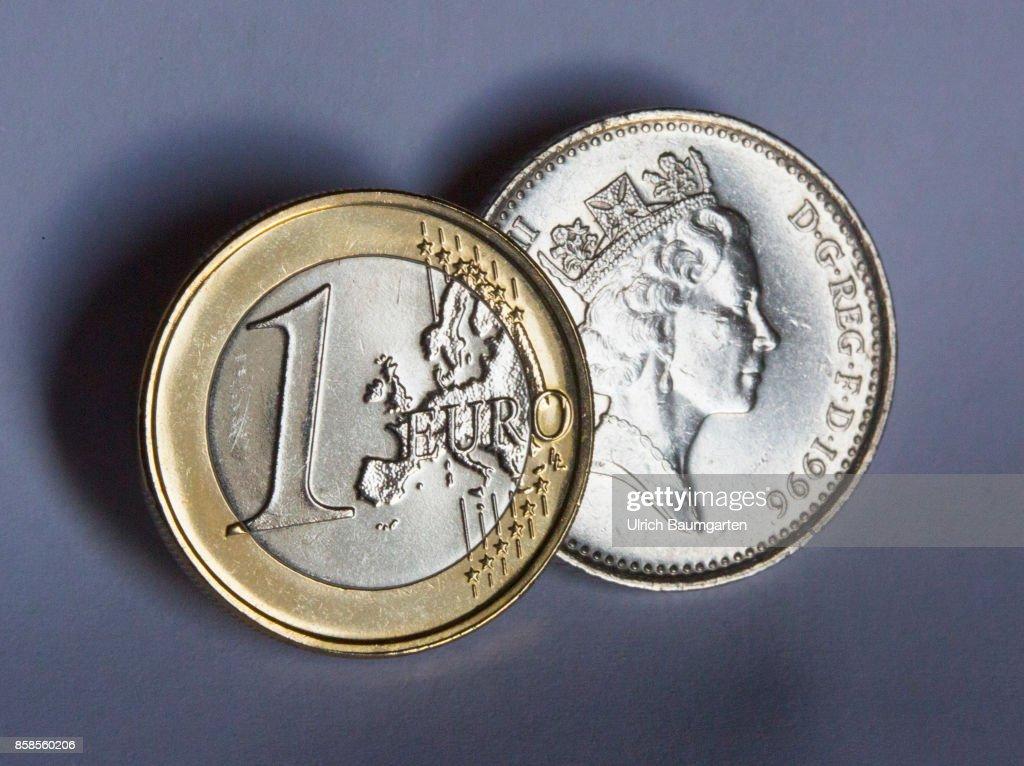 Brexit British Pound Coin With The Portrait Of Queen Elizabeth Ii