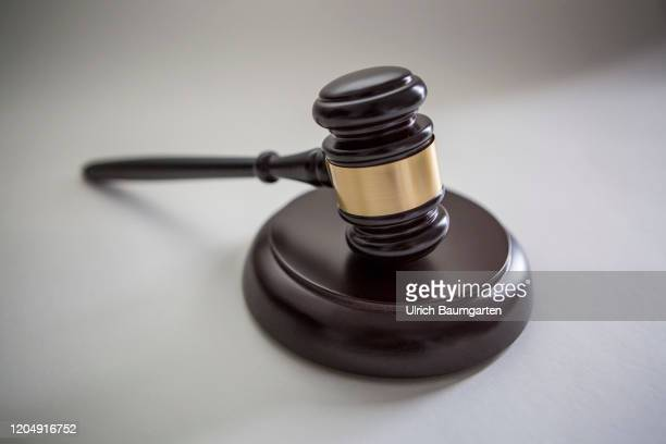 Symbol photo on the subjects auction hammer, court gavel, auction, case law, etc.