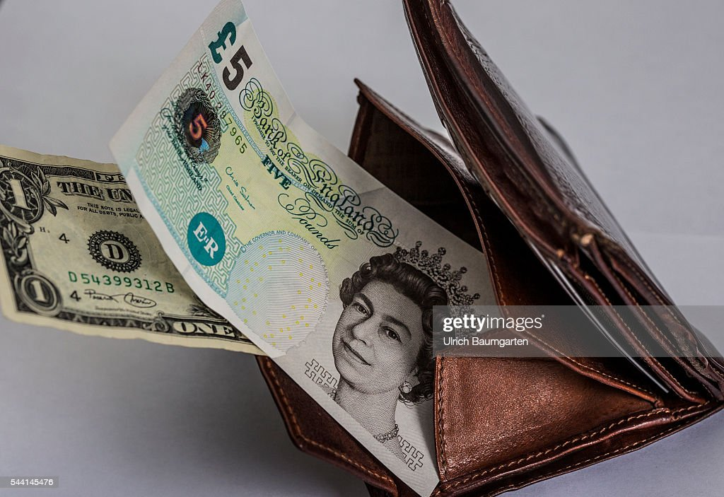 Symbol Photo On The Subjects Brexit British Pounds Sterling Dollar