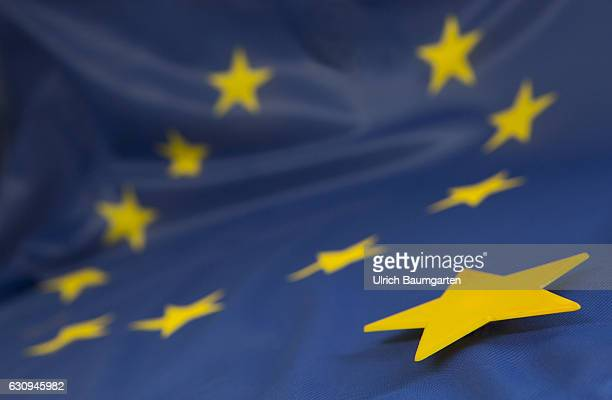 Symbol photo on the topic of Brexite and Unity of the European Union Great Britain and whoever follows then The photo shows the European flag and a...