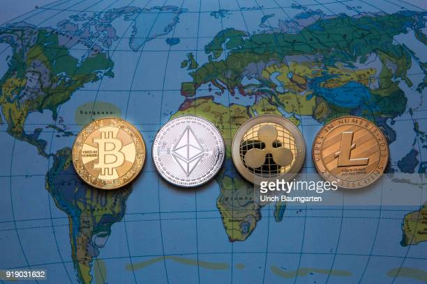 Symbol photo on the topics Crypto currencys digital currencys money laundering fluctuations in value currency speculation etc The picture shows a...
