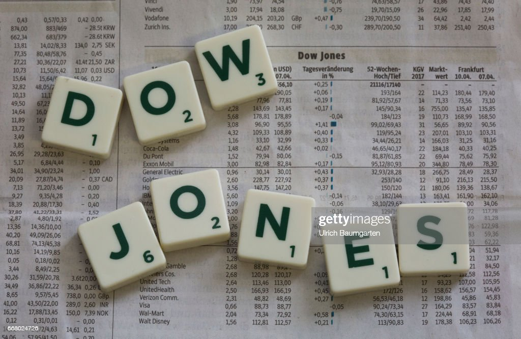Symbol Photo On The Topics Dow Jones Stock Exchange Us Dollar