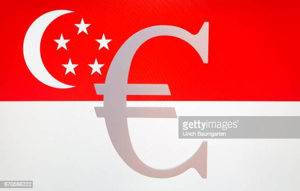 Symbol photo on the topics tax oasis banking secrecy tax treaties tax investigation tax authorities etc The photo shows the eurosymbol on the flag of...