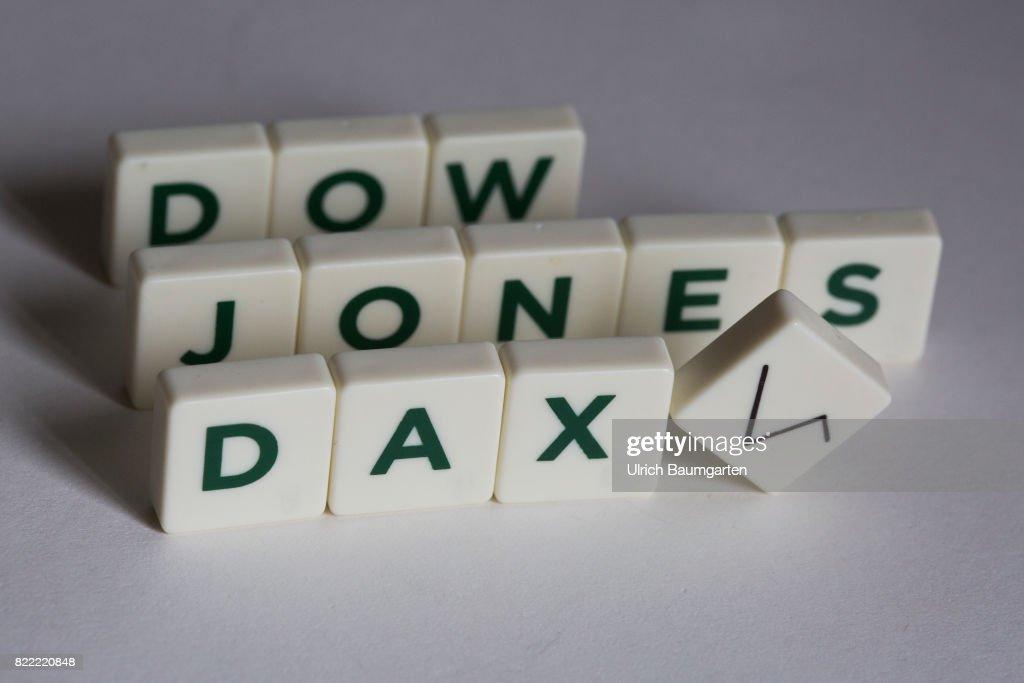 Symbol Photo On The Topics World Economy World Finance Dow Jones