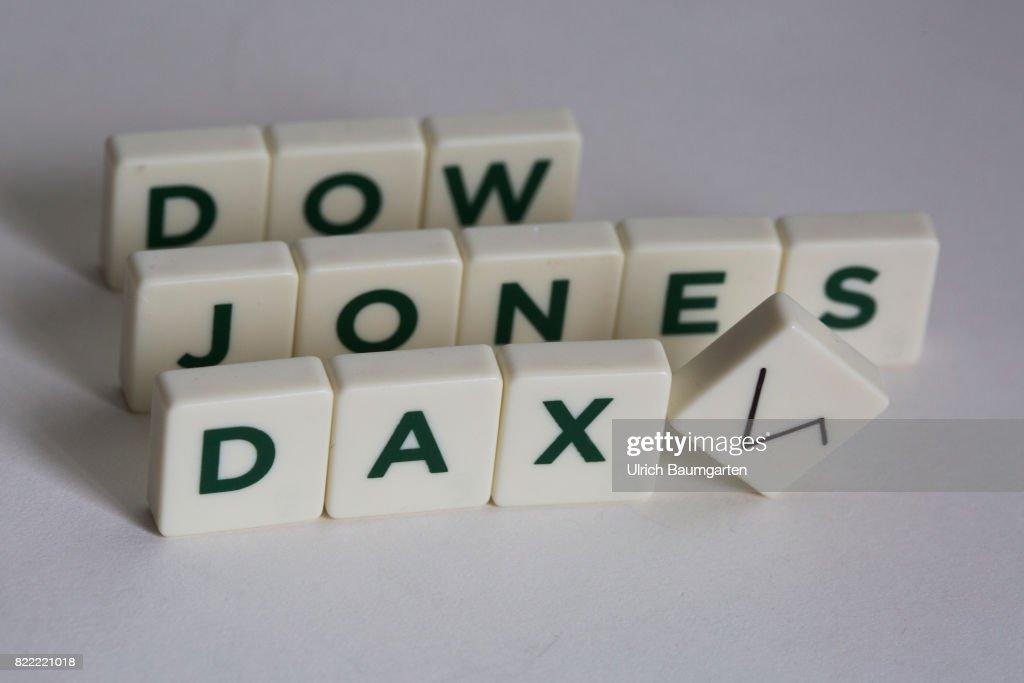 Symbol Photo On The Topics World Finance Dow Jones And Dax