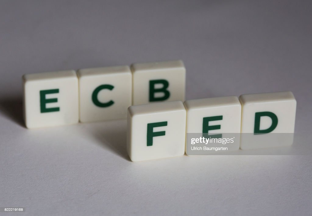 Symbol Photo On The Topics World Finance Ecb And Fed Pictures