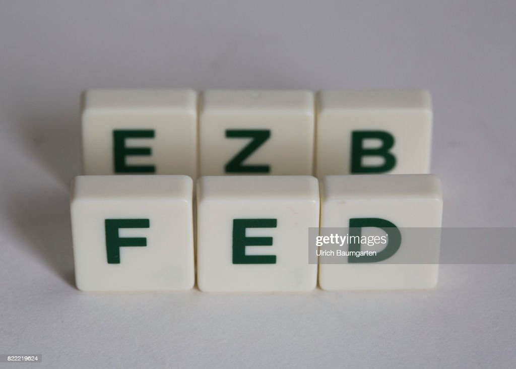 Symbol Photo On The Topics World Finance Ezb And Fed Pictures