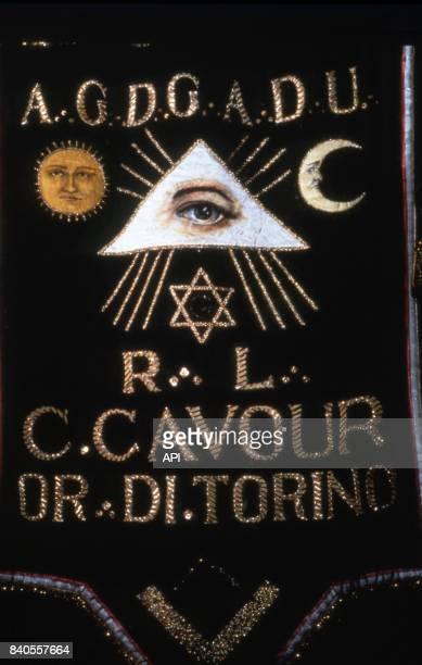 Symboles sur une banière de la francmaçonnerie