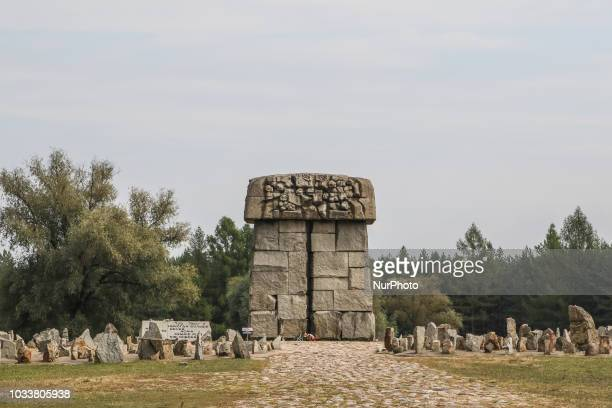 Symbolic cemetery on the site of a former German Nazi extermination camp built during WWII now a memorial is seen near Treblinka Poland on 9...