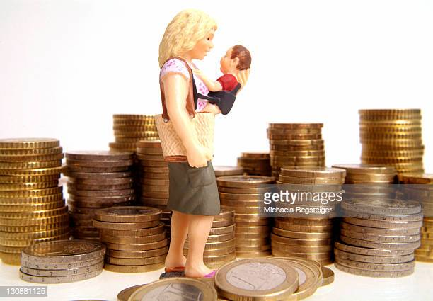 Symbolic for child allowance, alimonies for single parent