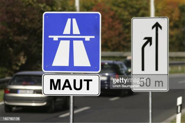 Symbolic image for a possible introduction of a motorway toll in Germany