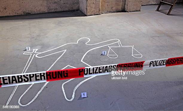 symbolic phot justice victim silhouette of a victim at a scene of the crime