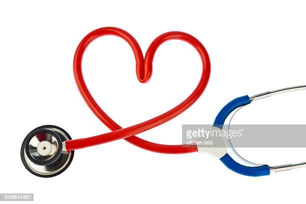 symbolic photo heart attack heart disease heartshaped stethoscope
