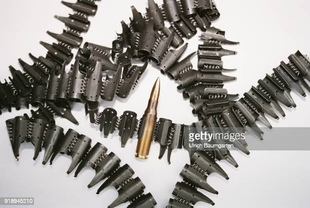 Symbolic photo on the theme of operational readiness of the Bundeswehr NATO etc The photo shows a cartridge belt with only one rifle cartridge