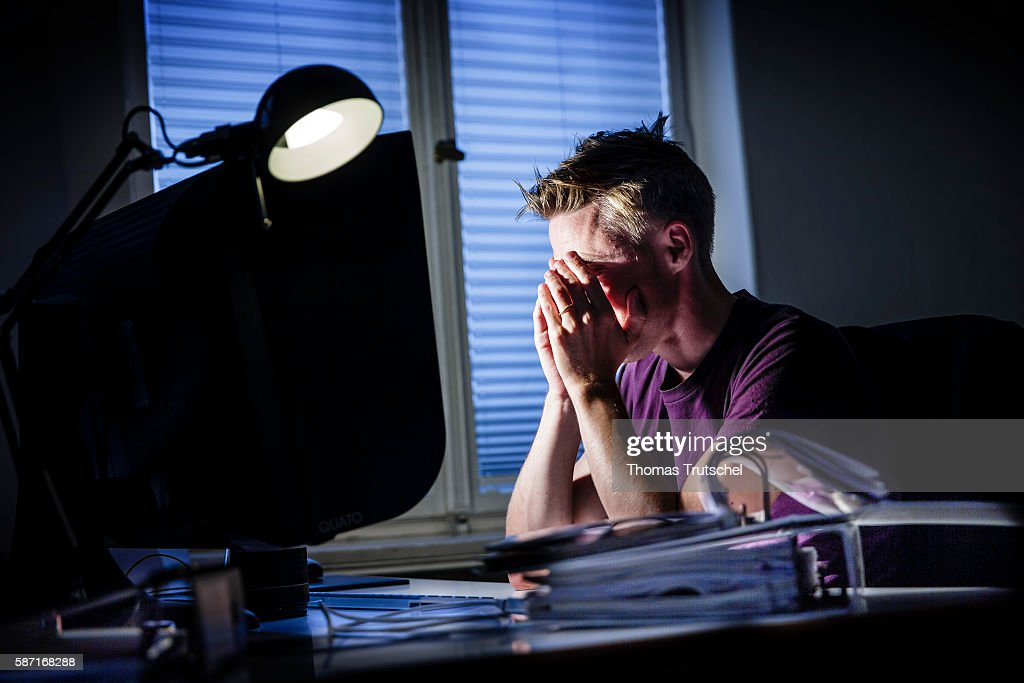 Stress At  Work : News Photo
