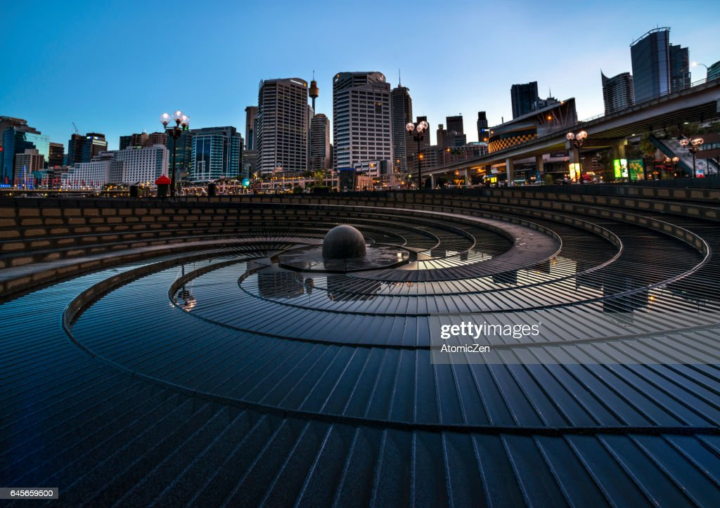 Symbolic rock garden of Darling harbour, Sydney : Stock Photo