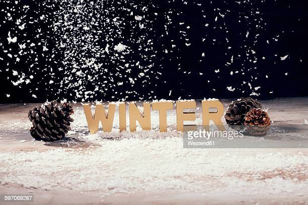 symbolical picture winter - fake snow stock pictures, royalty-free photos & images