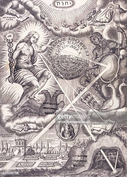 Symbolism and modern science Frontispiece of Ars Magna Lucis and Umbra by Athanasius Kircher Traditional Hermetic/Alchemical symbols are mixed with a...