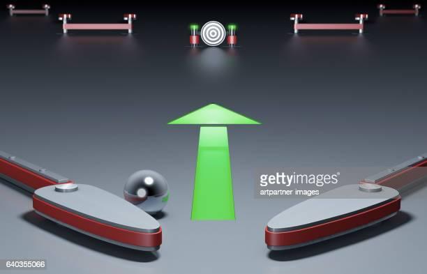 Symbolized pinball machine