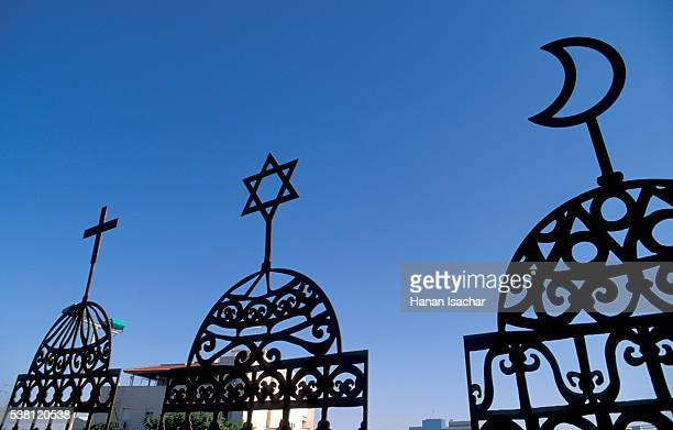 symbols of christianity, judaism and islam - religion stock pictures, royalty-free photos & images