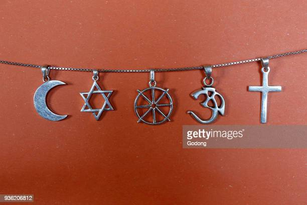 Symbols of islam judaism buddhism hinduism and christianity