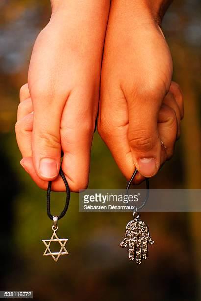 Symbols of Judaism and Islam