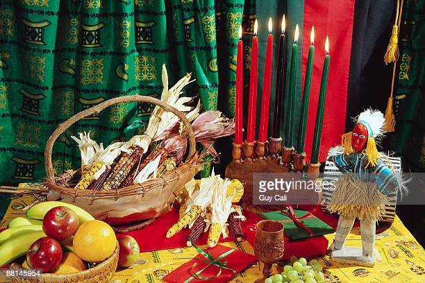 symbols of kwanzaa - kwanzaa stock pictures, royalty-free photos & images