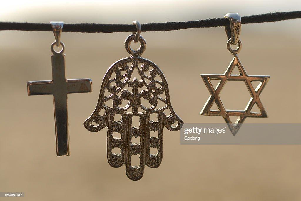 Symbols Of The Three Monotheistic Religions Pictures Getty Images - Monotheistic religions