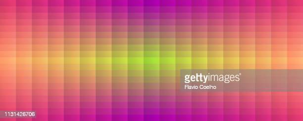 symmetrical colorful rectangles background - sound wave stock pictures, royalty-free photos & images