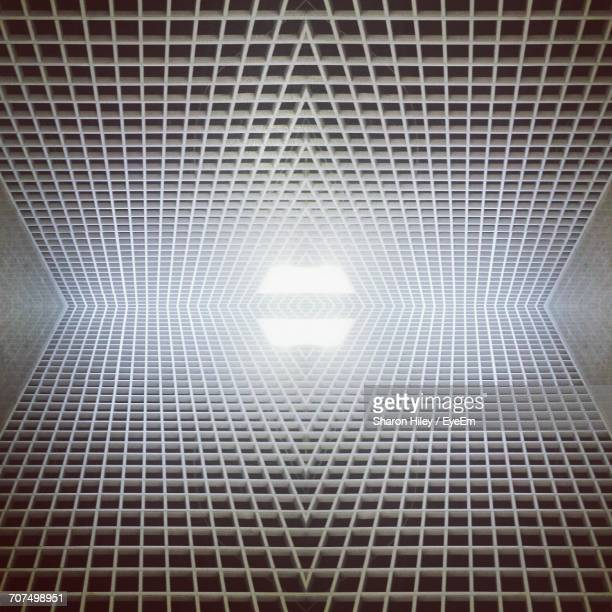 Symmetrical Image Of Ceiling With Skylight