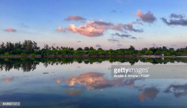 Symmetrical reflection of Addu Atoll