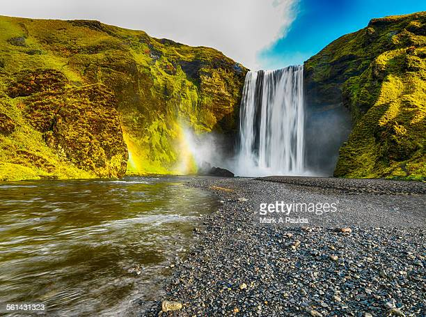 symmetrical scenic - selfoss stock photos and pictures