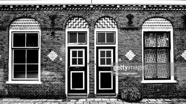 symmetry in b&w - hoogeveen stock pictures, royalty-free photos & images