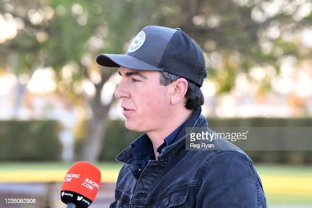 Symon Wilde after Realeza won the JT Dixon BM64 Handicap, at Geelong Racecourse on September 05, 2021 in Geelong, Australia.