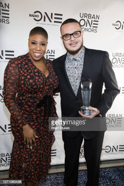 Symone D Sanders and Shaun King attend 2018 Urban One Honors at The Anthem on December 9 2018 in Washington DC
