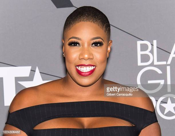 Symone Sanders attends 2018 Black Girls Rock at New Jersey Performing Arts Center on August 26 2018 in Newark New Jersey