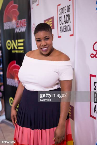 Symone Sanders CNN Political Commentator and former National Press Secretary for Sen Bernie Sanders on the red carpet for The State of Black America...
