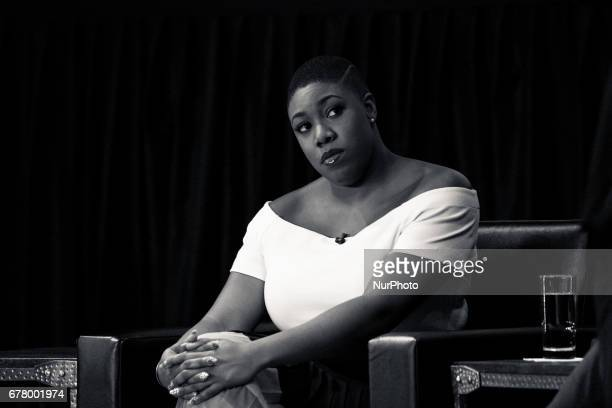 Symone Sanders CNN Political Commentator sits on a panel for The State of Black America town hall taping at the Howard Theatre on May 3 2017 in...