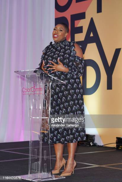 Symone Sanders speaks at the ColorComm's 6th Annual Conference on July 26 2019 in Miami Florida