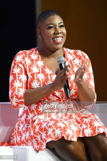 Symone Sanders speaks onstage during the 2018 Essence Festival presented by CocaCola at Ernest N Morial Convention Center on July 6 2018 in New...