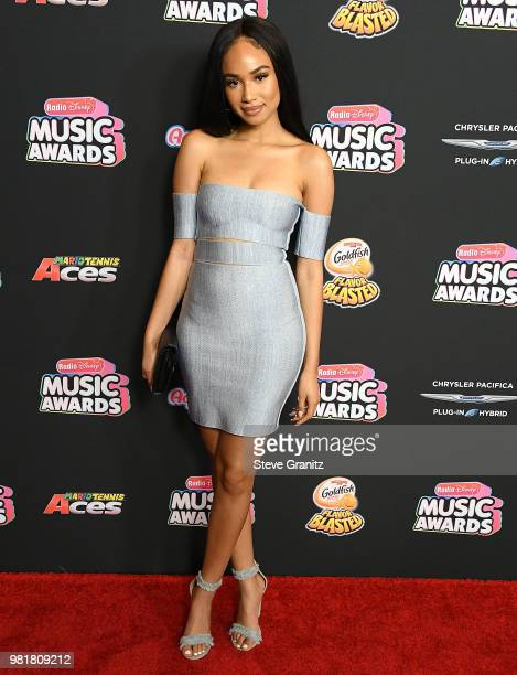 Symphani Soto arrives at the 2018 Radio Disney Music Awards at Loews Hollywood Hotel on June 22 2018 in Hollywood California