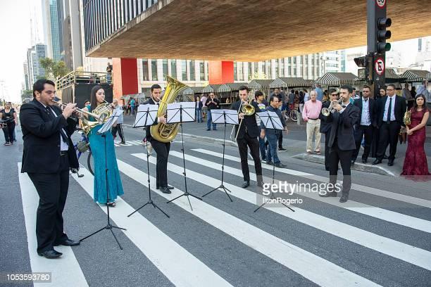 Symphonic Orchestra - cultural events at Avenida Paulista, São Paulo, Brazil.
