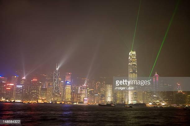 Symphony of Lights Show, seen from Tsim Sha Tsui.