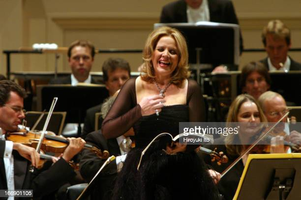 """Symphony Orchestra Cologne performing Richard Strauss's """"Daphne"""" at Carnegie Hall on Saturday night, October 15, 2005.This image:The soprano Renee..."""