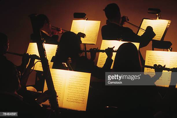 symphony orchestra - violin family stock photos and pictures